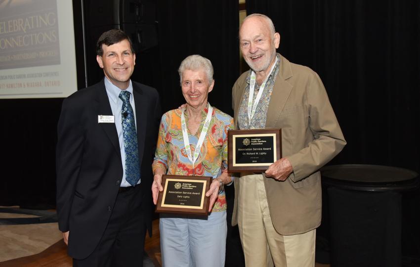 Casey Sclar, PhD, Dr. Richard Lighty, and Sally Lighty