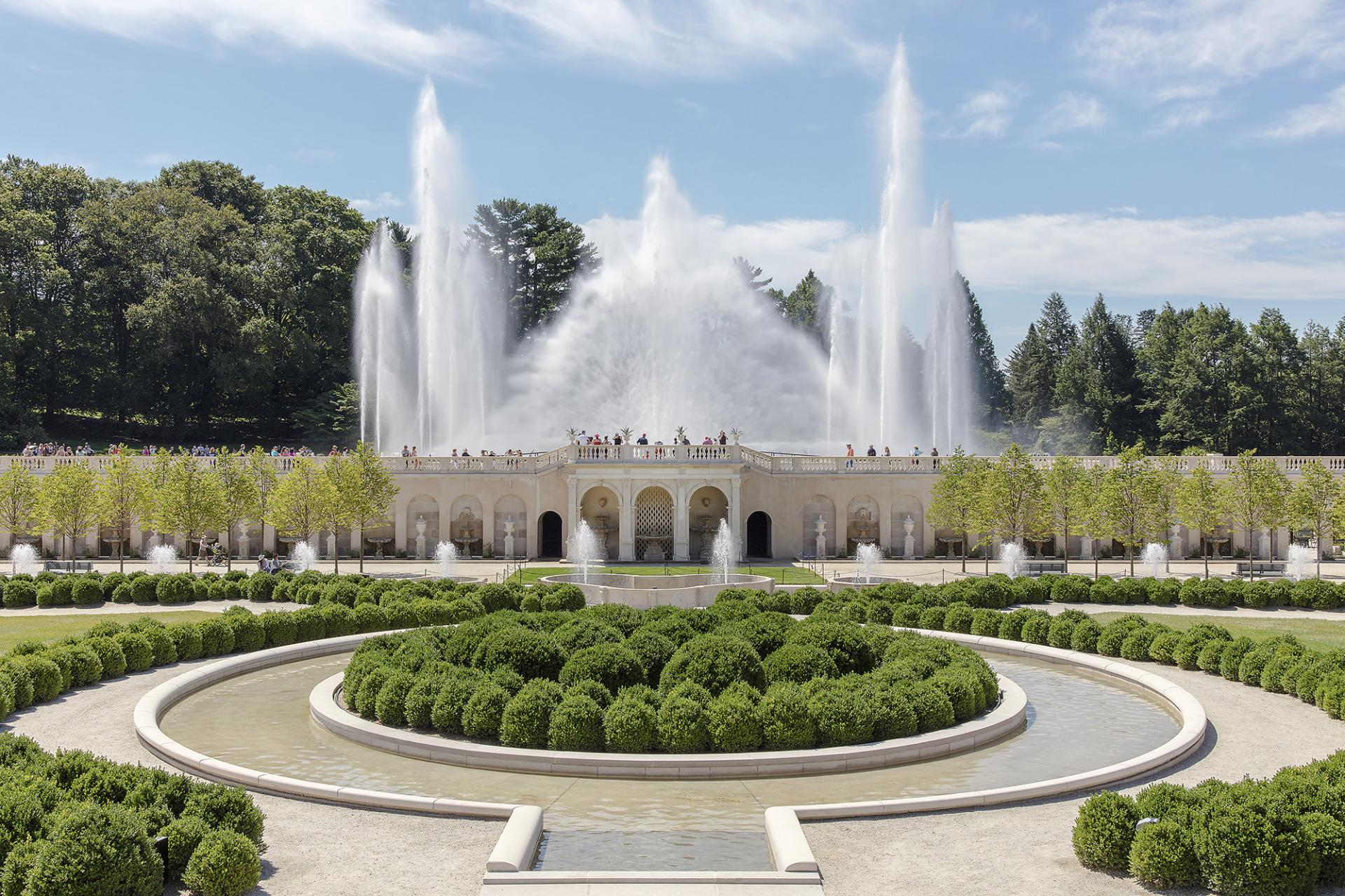 The Revitalized Main Fountain Garden At Longwood Recognized By The  Preservation Alliance For Greater Philadelphia